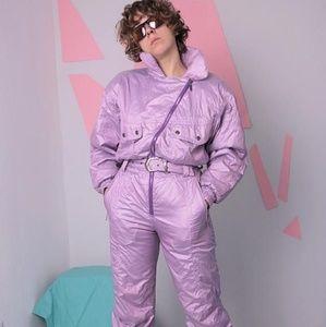 80s rockstar ski ski suit Halloween costume purple